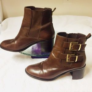 Sam Edelman Brown Leather Ankle Boots (8.5)
